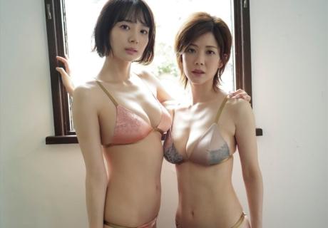 Okada Sayaka & Takamiya Mari 岡田紗佳 & 高宮まり